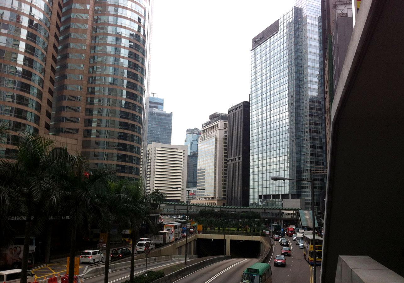 Гонконгские небоскребы на острове Коулун